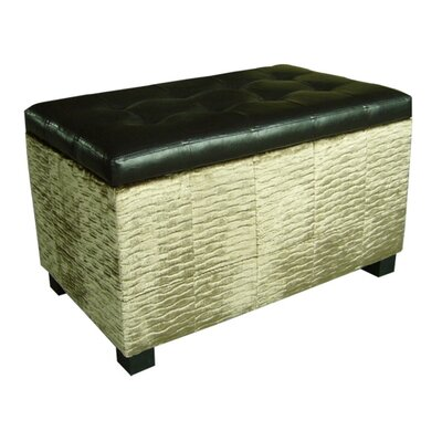 ORE Furniture Chanille and Faux Leather S..