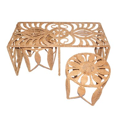Jo-Liza International Corp. Rope Charlotte 3 Piece Nesting Table