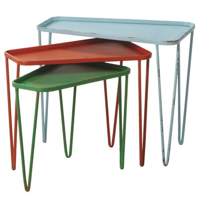 Midwest Seasons Borough 3 Piece Nesting Tables