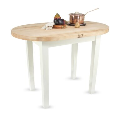 John Boos Eliptical C-Table Prep Table with Butcher Block Top