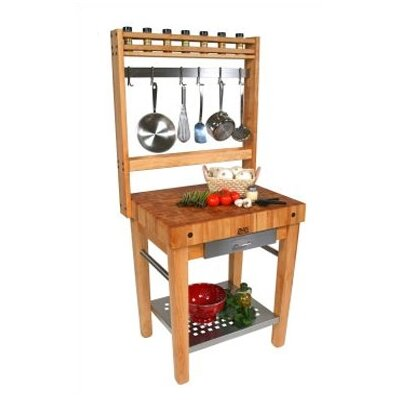 John Boos Cucina Americana Prep Table with Butcher Block Top