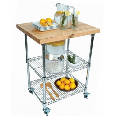 John Boos Metropolitan Wire Kitchen Cart with W..