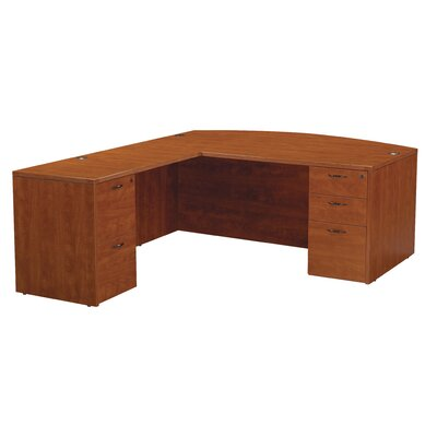 OSP Furniture Napa L-Shape Bow Top Desk