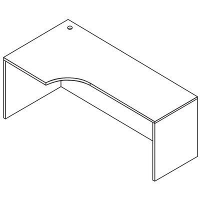 OSP Furniture Sonoma Left Curve Corner Desk Shell