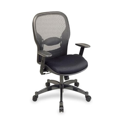 OSP Furniture Mid Back Leather Conference Chair
