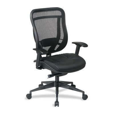 OSP Furniture Mesh Leather Conference Chair