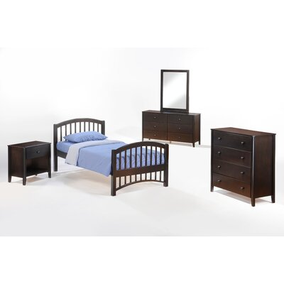 Night & Day Furniture Zest Full Panel Customizable Bedroom Set