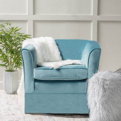 Beachcrest Home Lowell Swivel Arm Chair
