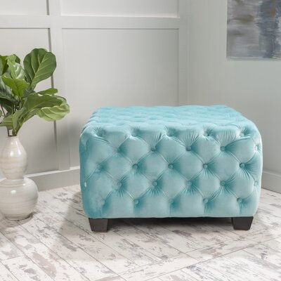 Home Loft Concepts Barrett Tufted Velvet Ottoman