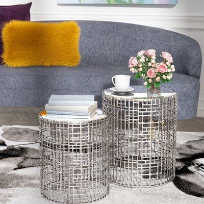 Willa Arlo Interiors Andrews Mirror 2 Piece End Table Set U0026 Reviews |  Wayfair