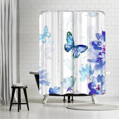 East Urban Home Harrison Ripley Butterflies Shower Curtain U0026 Reviews    Wayfair