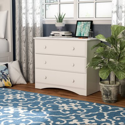 Red Barrel Studio Aster 3 Drawer Dresser U0026 Reviews | Wayfair