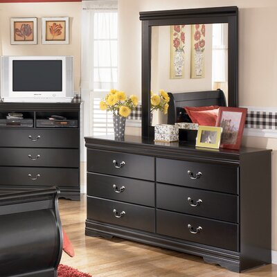 Alcott Hill Parkmead 6 Drawer Dresser with Mirror