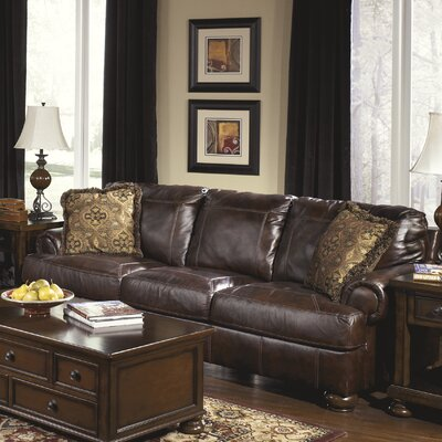Signature Design by Ashley Heath Leather Sofa