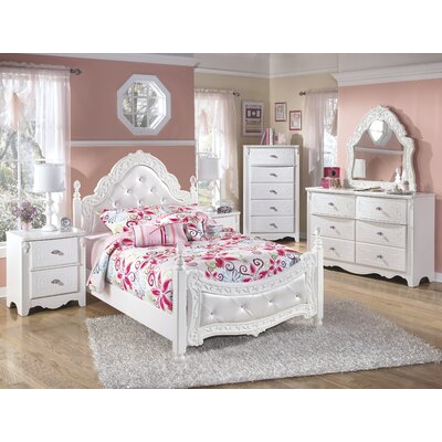 Signature Design by Ashley Exquisite Four Poster Customizable Bedroom Set