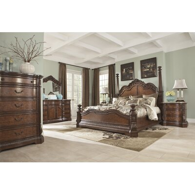 Signature Design by Ashley Ledelle Four Poster Customizable Bedroom Set