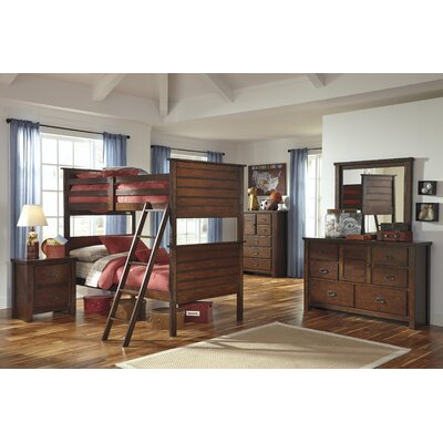 Signature Design by Ashley Ladiville Twin Futon Bunk Bed Customizable Bedroom Set