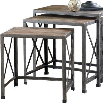 August Grove Doreen 3 Piece Nesting Tables