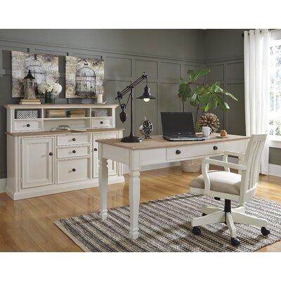 Signature Design by Ashley Sarvanny 4 Piece Desk Office Suite Set