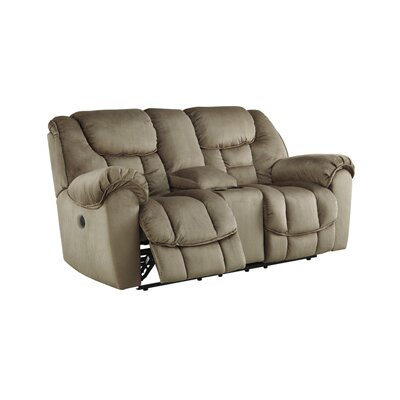 Signature Design by Ashley Glider Reclining Loveseat with Console