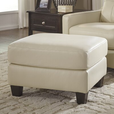 Red Barrel Studio Wellston Leather Galaxy Ottoman