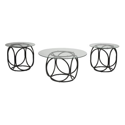 Latitude Run Doppler 3 Piece Coffee Table Set