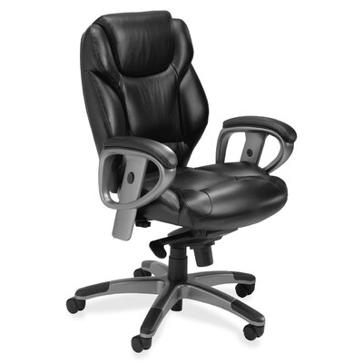 Mayline Group Mid-Back Leather Chair