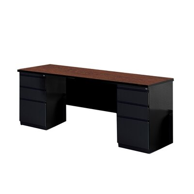 Mayline Group Computer Desk with 2 Pedestal