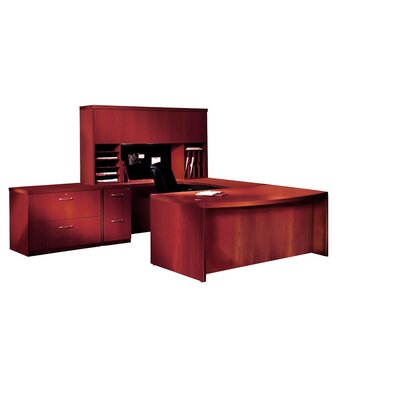 Mayline Group Aberdeen Series 3-Piece U-Shape Desk Office Suite