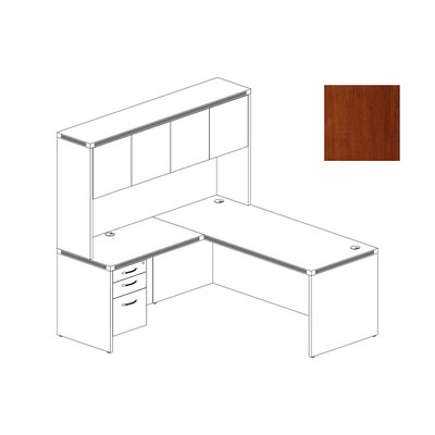 Mayline Group Aberdeen Series L-Shape Computer Desk with Hutch
