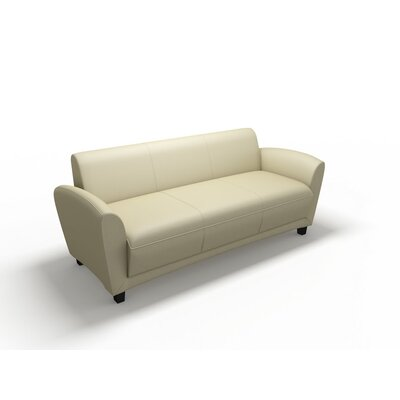 Mayline Group Lounge Series Santa Cruz Leather Sofa