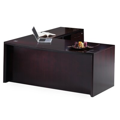Mayline Group Corsica Series L-Shape Executive Desk