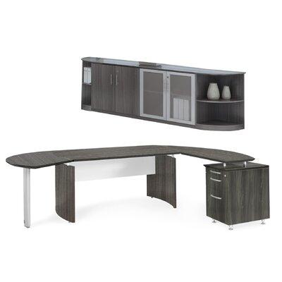 Mayline Group Medina Series L-Shape Desk Office Suite