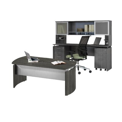 Mayline Group Medina Series 3-Piece Standard Desk Office Suite