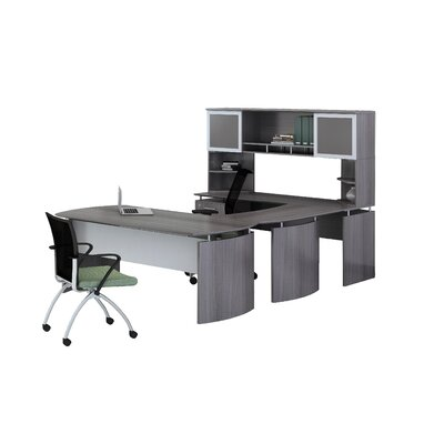 Mayline Group Medina Series 3-Piece U-Shape Desk Office Suite