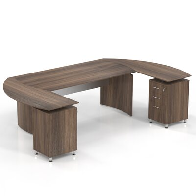 Mayline Group Media Computer Desk with Cu..