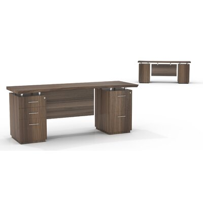Mayline Group Sterling Credenza Desk with Box/Box/File and File/File Double Pedestal