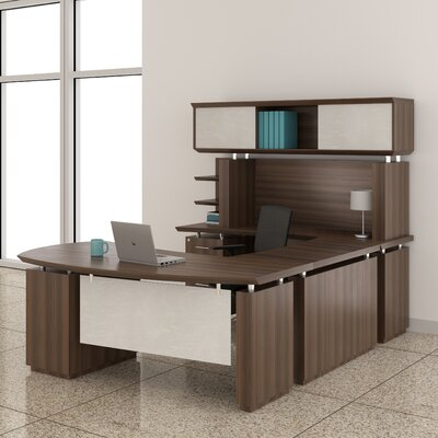 Mayline Group Sterling Credenza Desk with Bridge
