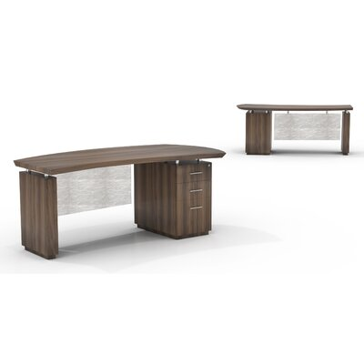 Mayline Group Sterling Desk with Box/Box/File Single Pedestal