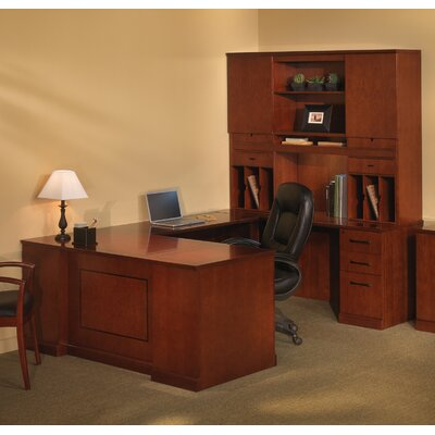 Mayline Group Sorrento Series U-Shape Executive Desk with Hutch