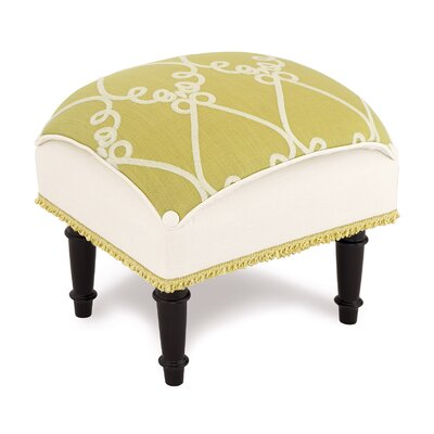 Eastern Accents Etta Lime Pillow Top Ottoman
