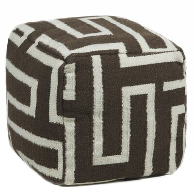 Chandra Rugs Textured Contemporary Pouf O..