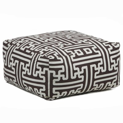 Chandra Rugs Textured Contemporary Printed Pouf