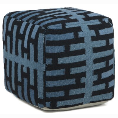 Chandra Rugs Textured Contemporary Ottoman