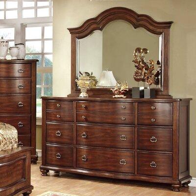 Hokku Designs Jamine 9 Drawer Dresser with Mirror