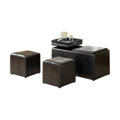 Hokku Designs Beckan 3 Piece Storage Ottoman Set