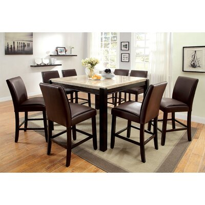 Hokku Designs Dornan 9 Piece Counter Height Pub Set