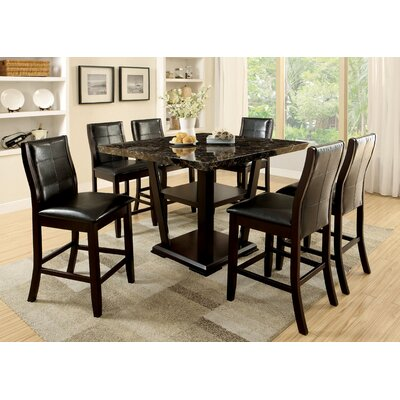 Hokku Designs Campbell 7 Piece Counter Height Pub Set