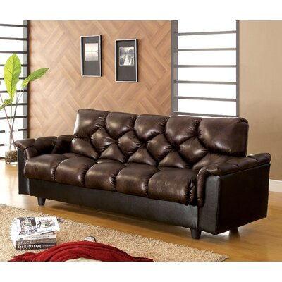 Hokku Designs Carlington Leather Vinyl Storage Sleeper Sofa