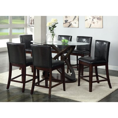 Hokku Designs Ollivander 7 Piece Counter Height Dining Set